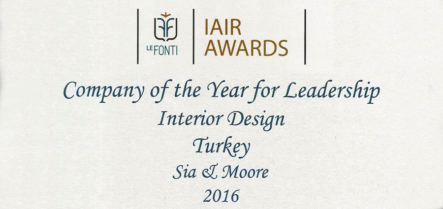Sia Moore - LE FONTI LAIR AWARDS 2016