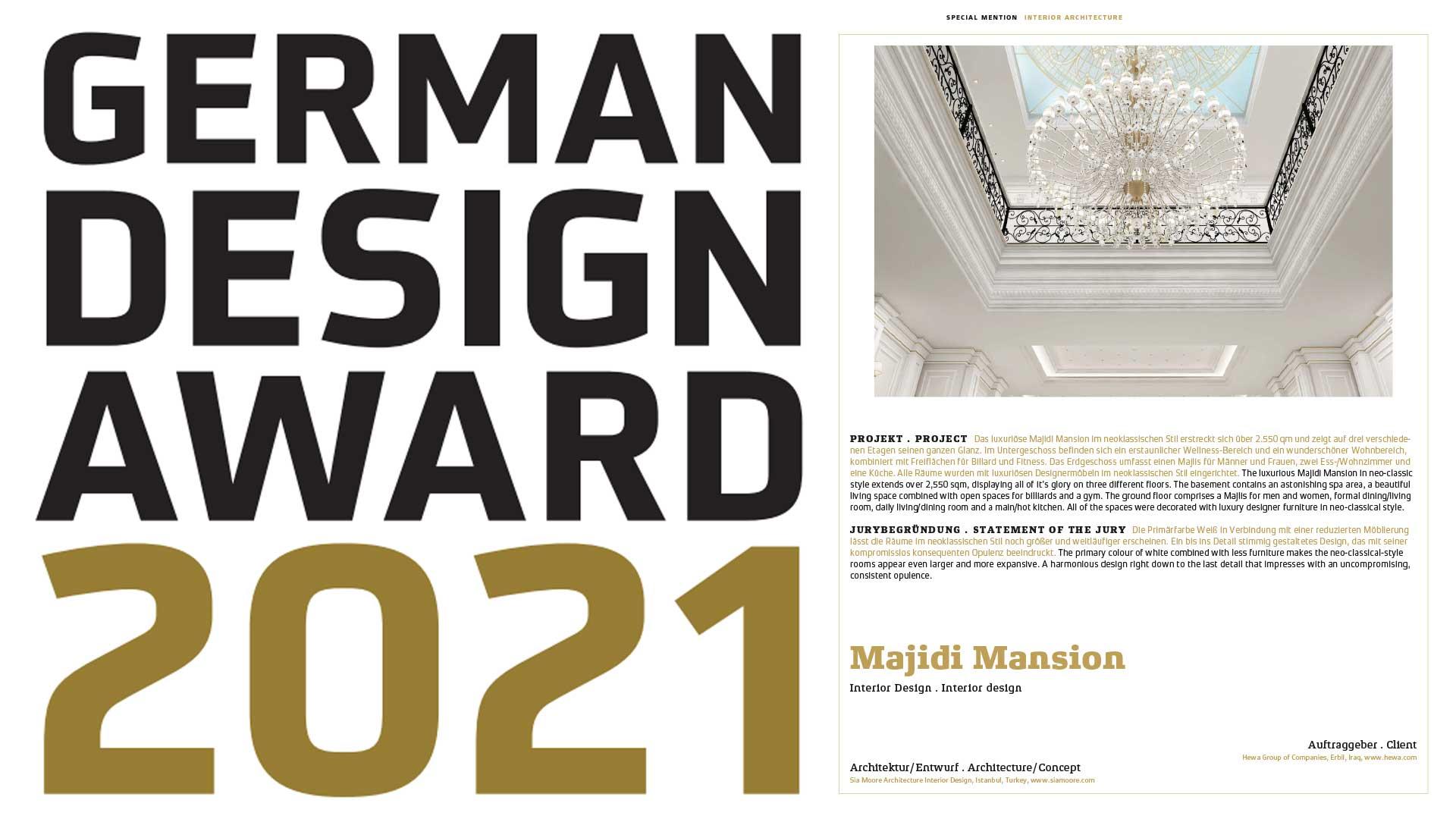 German Design Award 2021-Sia Moore